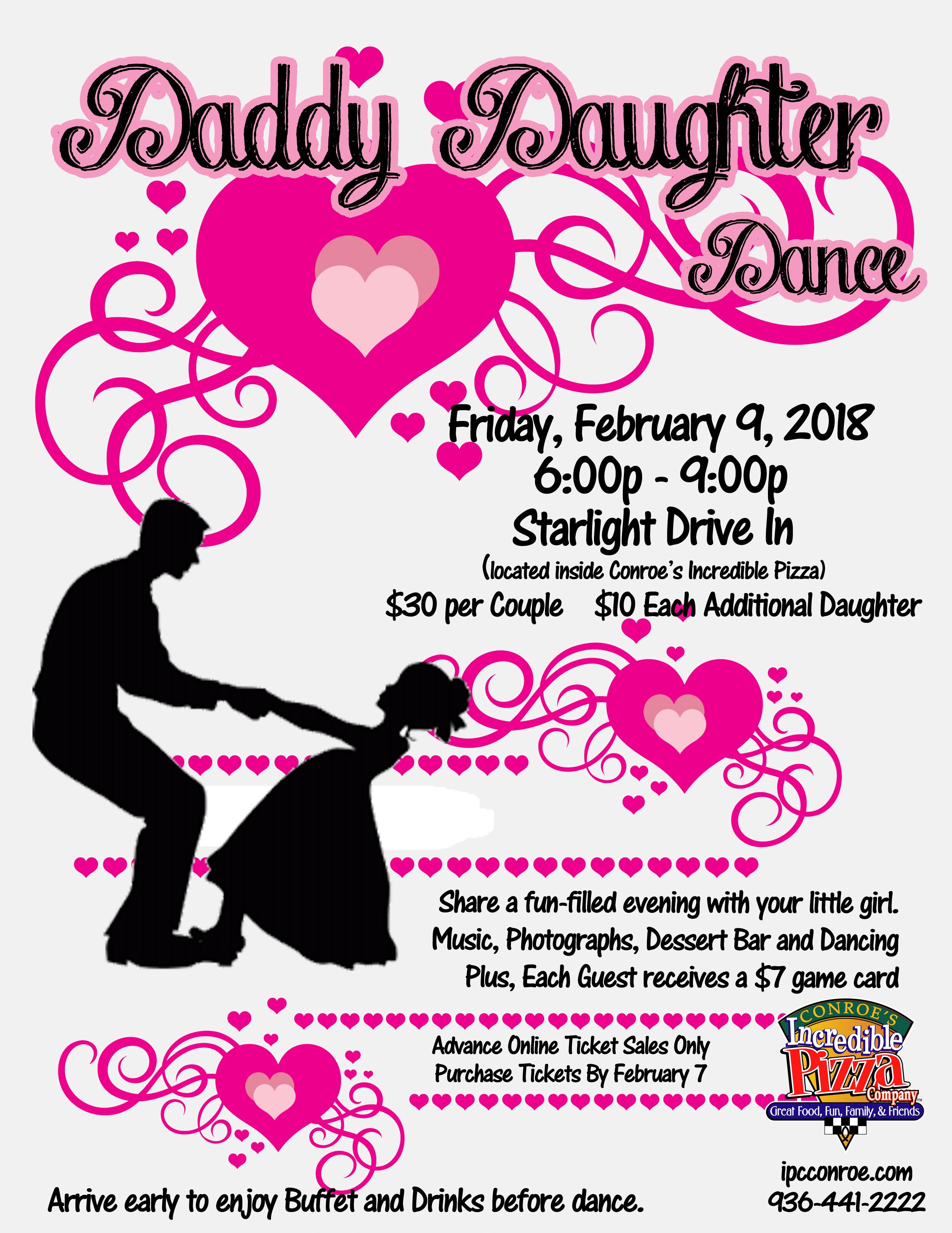 Daddy Daughter Dance – Fri., Feb. 9