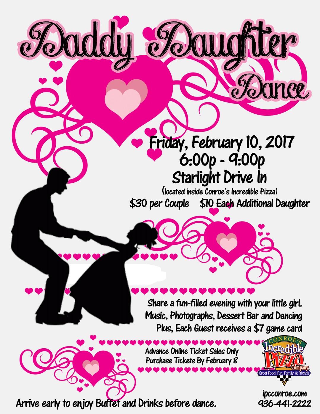 Daddy Daughter Dance – Fri., Feb. 10