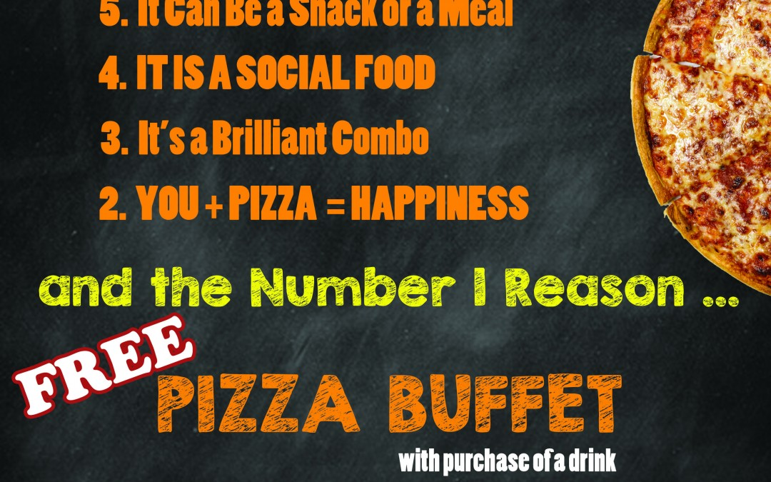 National Pizza Month – Free Pizza Buffet, Oct. 24