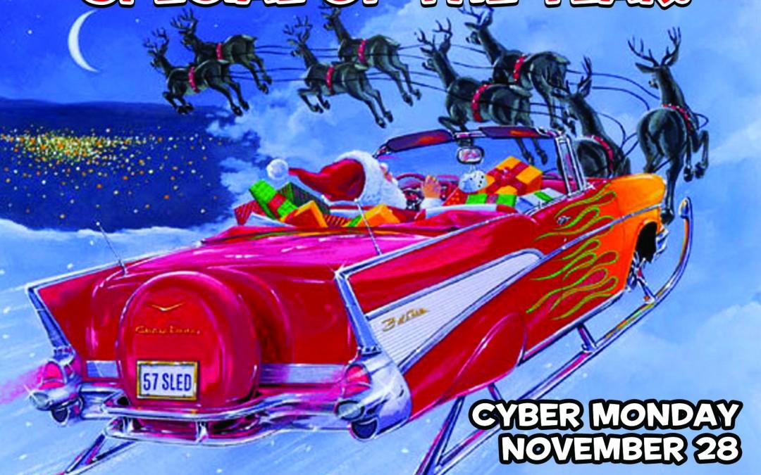 Cyber Monday-Nov. 28!