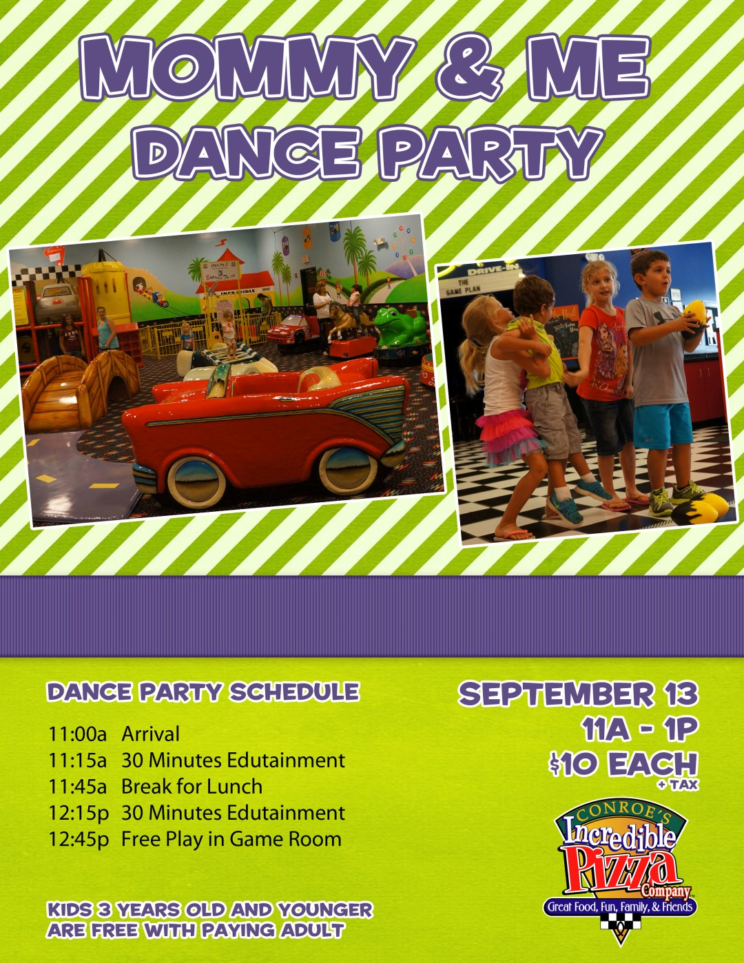 Mommy & Me Dance Party! – Wed., Sept. 13