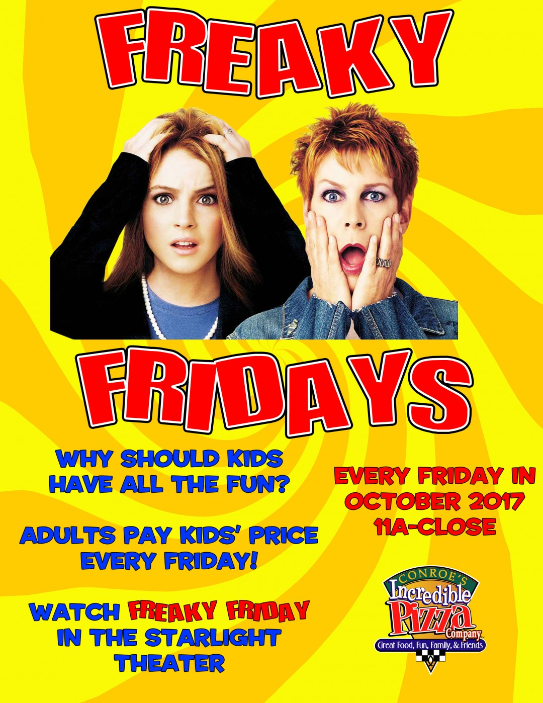 Freaky Fridays in October!