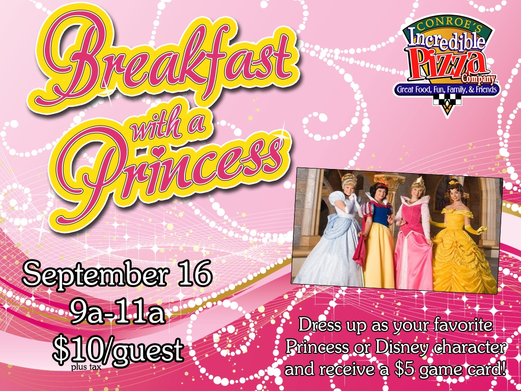 Breakfast with a Princess – Sat., Sept. 16