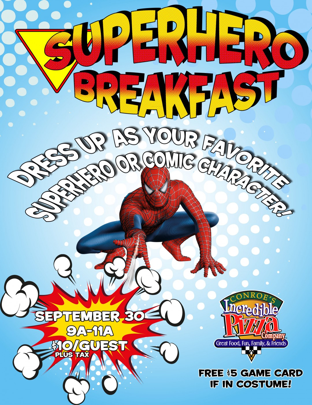 Superhero Breakfast this Weekend!