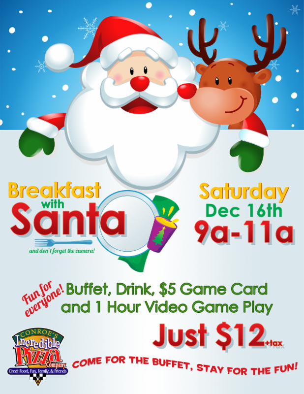 Breakfast with Santa, this Saturday!!!
