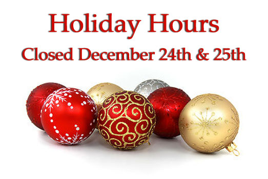 Merry Christmas – Closed for the holiday