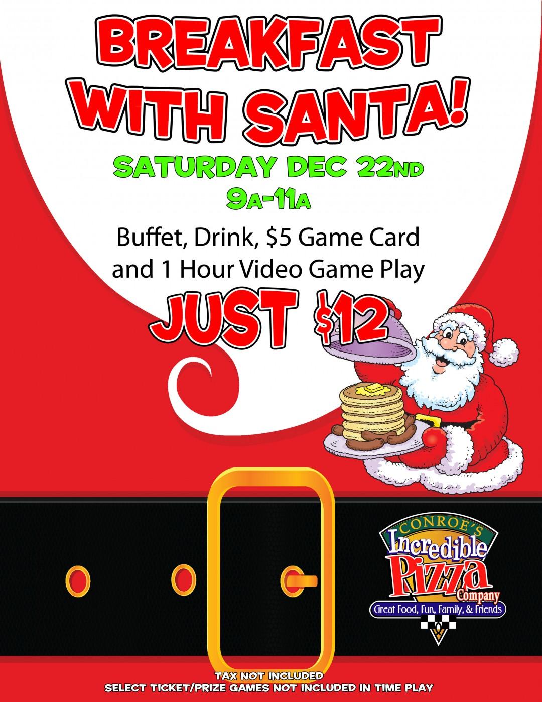 Breakfast with Santa, Sat., Dec. 22!