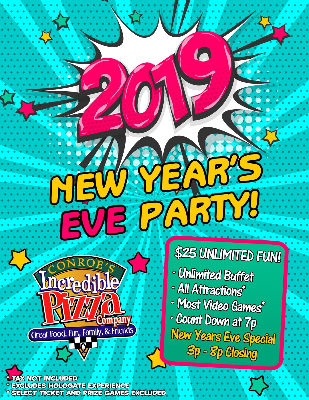 New Year's Eve Party! Mon., Dec. 31