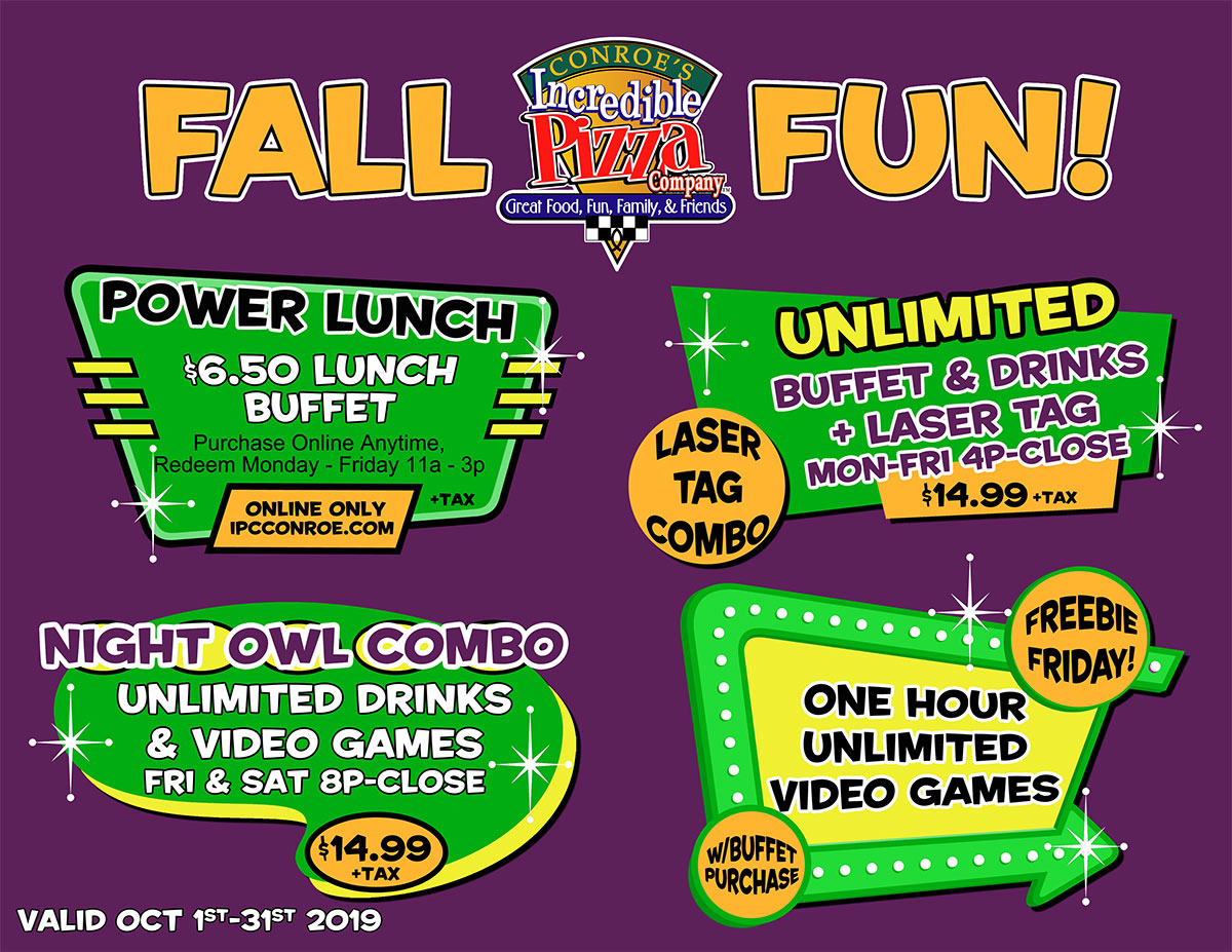 Fall Fun Specials Are Here!!!