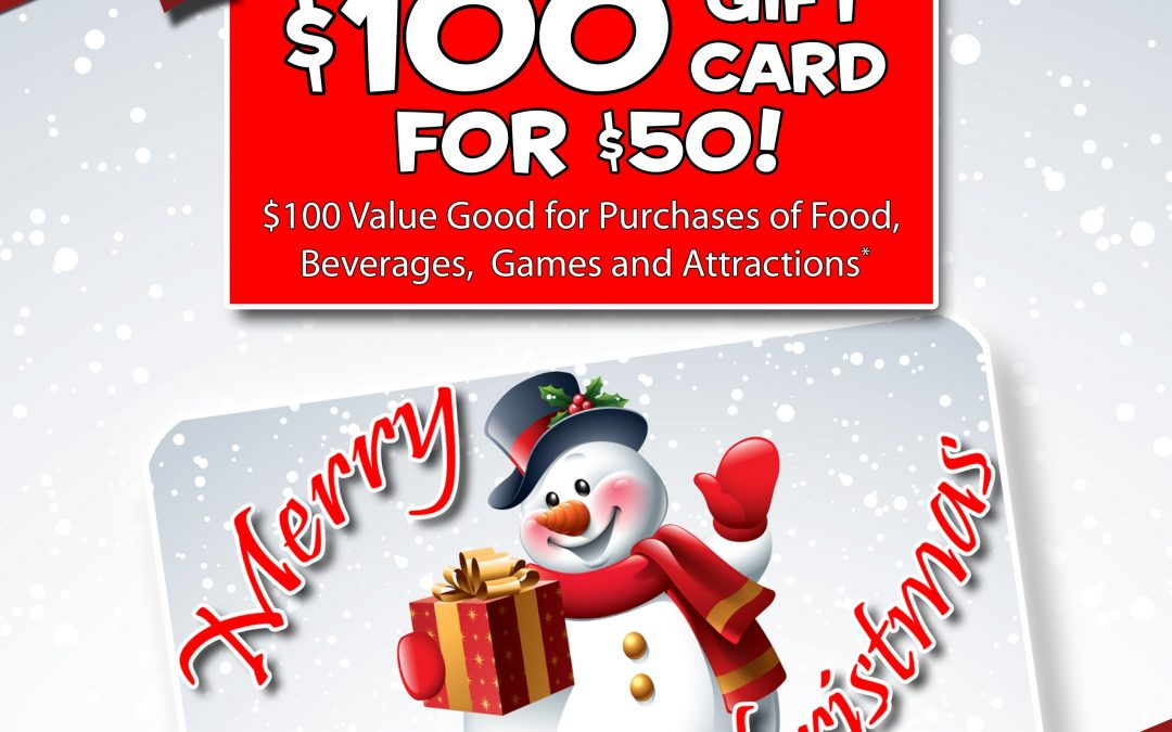 Cyber Monday- $100 Gift Card for $50!