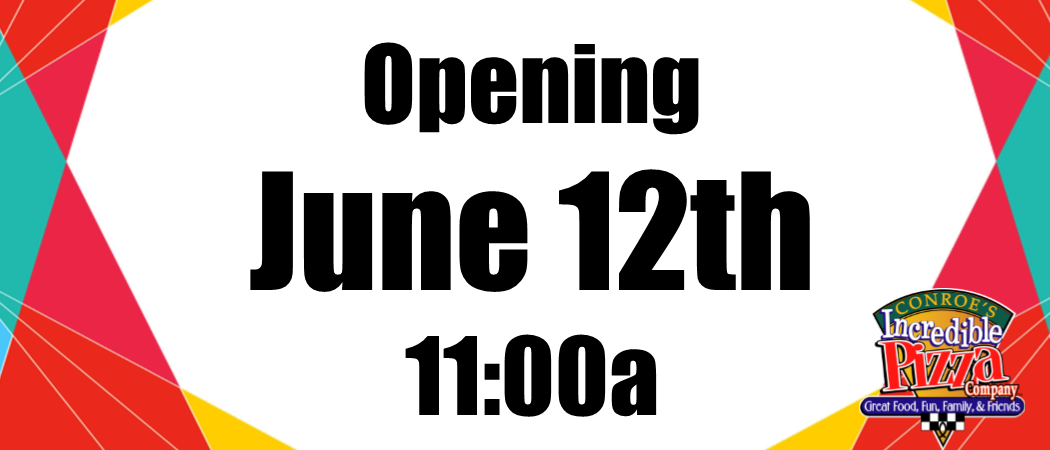Opening Friday, June 12!!!